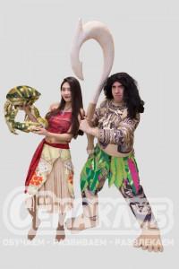 Моана и Мауи из мультфильма «Моана»